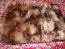 "WILLIAMS SONOMA HOME Faux Fur Throw, Textured Sable, 50"" x 65"" , NEW, VERY PLUSH"