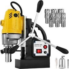 Md40 Electric Magnetic Drill Press 15 Boring With 6pc 1 Hss Annular Cutter Bits