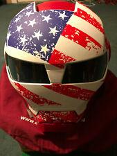Masei 610 RED WHITE BLUE FLAG FACE  DARTH VADER Motorcycle Bike Chopper Helmet