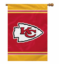 "Kansas City Chiefs NFL Licensed 28"" x 40"" Single Sided Banner - Free Shipping"