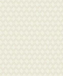 Grandeco Life Boheme Ogee Cream Glitter Luxury Designer Wallpaper A36601-183592