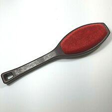 Vintage Helmac Magik Brush 2-sided Lint Remover Brown / Red HB300