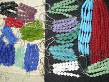 16 STRANDS SUMMER Huge Bulk Mix Sea Beach Glass Beads Frosted Mat COINS SHAPES