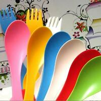3 in 1 Spoon Fork Knife Cutlery Set Camping Hiking Utensils Spork Tableware 1pc