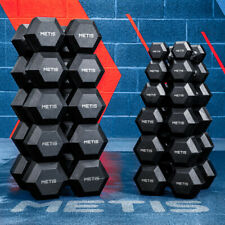 METIS Hex Dumbbells [2.5-30kg] | SOLD AS PAIR – Free Weights Gym/Home Workouts