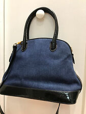 Preowned Authentic ESCADA Denim and Patent Leather Bag Purse !!! CAMDAY