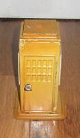 Super Rare 1930s KIBRI German Tin Telephone Booth Telefon Train Prewar Antique