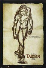 TARZAN MOVIE POSTER 2 Sided ORIGINAL RARE Advance DRAWING Version 27x40