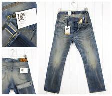 NUEVO LEE 101b Jeans 369ml ORILLO Recto Holgado VINTAGE W32 W31/L32