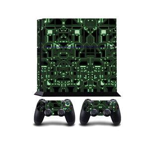 Glowing Circuit Board PS4 PlayStation 4 Vinyl Wrap / PlayStation 4 PS4 Skin S...