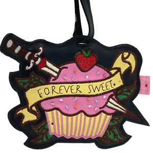 Fluff Tattoo Cupcake Luggage Tags Suitcase Travel Backpack ID Holder Loop Buckle