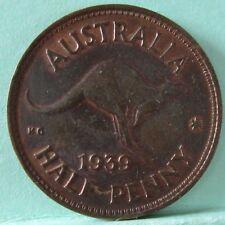 1939 Australia Roo HalfPenny #180119-10 =Traces of Lustre=