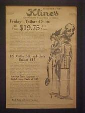 VINTAGE OLD ~Lady Clothes Woman Dresses OLD Store ART Print AD~ANTIQUE Orig 1927