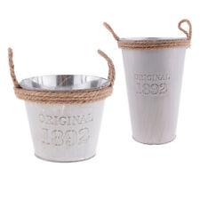 MagiDeal Galvanised Mtal Tin Flower Succulent Plant Pot Bucket Decor Vase A