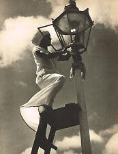 1940s Vintage Lionel Wendt Gaslight Street Light Lighter Photo Gravure Print