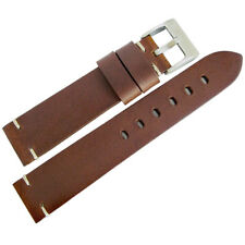 20mm ColaReb Siena SHORT Brown Leather Made in Italy Watch Band Strap