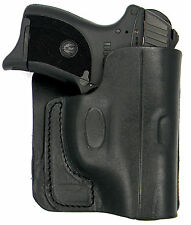 CEBECI BLACK LEATHER CONCEALMENT BACK POCKET WALLET HOLSTER - WALTHER PPK, PPK/S