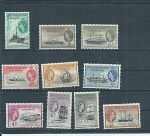 Falkland Islands stamps. Dependencies. 1954 QEII series to 1s MH  2 thins (P965)