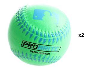 Franklin Sports MLB ProBrite Neon Color Soft Rubber Tee Ball Baseballs (2 Pack)