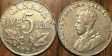 1924 CANADA 5 CENTS COIN GRADE G or Better BUY 1 OR MORE Its free S/H