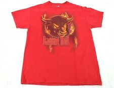 Six Flags Raging Bull T Shirt size M Adult Great America Red Graphic Theme Park