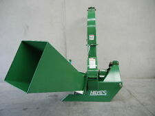 "HAYES PTO TRACTOR WOOD CHIPPER / MULCHER GRAVITY FED 6"" CAPACITY - 3PL"