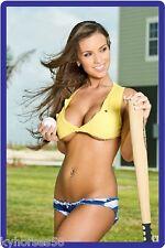 Sexy Busty Pin Up Model Baseball Player Refrigerator Magnet