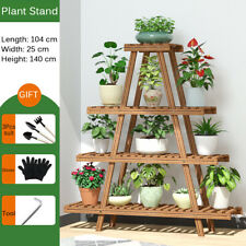 Outdoor Indoor Plant Stand Wooden Planter Shelf Garden Flower Pots Rack Corner