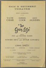 1961 THE GAY LIFE Shubert Theatre Program BARBARA COOK Walter Chiari