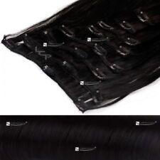 Schwarze lange Echthaar-Perücken & -Haarteile Kunsthaare Kunst