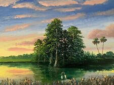 Florida Knife Oil Painting Cathedral Cypress Highwaymen Like- Lost Years Art 2.1