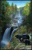 Bear at the Waterfall - Chart Counted Cross Stitch Pattern Needlework Xstitch