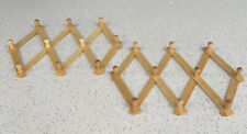 """Expandable Wooden Hanger Accordion Style Wood Wall Rack 2"""" Peg - 2Pack"""