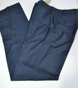 NWT Zanella IMPERFECT men's classic blue dress pants wool sz 32 EU 46