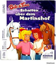 2 CD HÖRBUCH - BIBI UND TINA - SCHATTEN ÜBER DEM MARTINSHOF - LESUNG