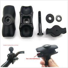 "Black Motorcycles Handlebar Double Socket Arm+Handle Bar Rail Mount Clamp For 1"""
