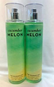 2 CUCUMBER MELON Fine Fragrance Mist Bath & Body Works 8 fl oz