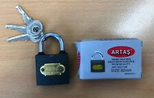 12 x Artas Vorhangschloss Schloss Sicherheit 32 mm
