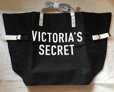 (1) Victoria's Secret 2018 Limited Edition Tote Bag large - Black/White Logo NEW