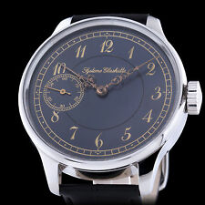 Syeteme Glashutte Uhrenfabrik Mens Vontage Mechanical Watch Rare Custom Case