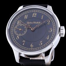 Syeteme Glashutte Uhrenfabrik Mens Vontage Mechanical Watch Rare Custom Case