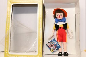 Vintage Effanbee Pinocchio Doll #1192 Storybook Collection In Box Blinking Eyes