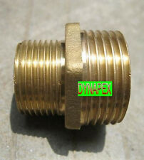 """1/4"""" to 1/8"""" Reducing Coupling Brass Pipe Fitting NPT adapter Male thread N-6R"""