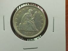 1875-S 20c Twenty Cent Seated Liberty XF/AU Old Cleaning Has Luster
