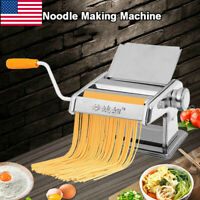 Stainless Steel Pasta Maker Noodle Making Machine Dough Cutter Roller W/ Handle
