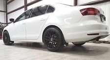 ROKBLOKZ Rally Mud Flaps for the 15-17 VW MKVI MK6 JETTA, Volkswagen WHITE LOGO