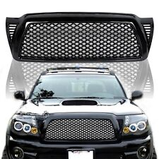 Black Front Bumper Hood Honeycomb Mesh Grill Grille ABS for 05-11 Toyota Tacoma
