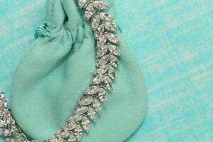 Womens 14K White Gold Finish 5 CT Diamond S Link Tennis Bracelet 7.25 Inches