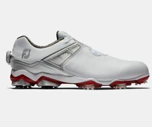 FootJoy Tour X BOA Men's Golf Shoes White/Grey/Red 55406 11 Medium (D) #83360