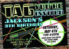 Laser Tag Birthday Party Invitation Digital File Free Shipping